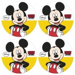 Mini-disques Azyme Mickey - 4,5cm - pk/12