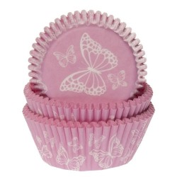 Cups Butterfly Pink pk/50
