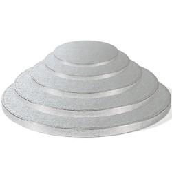 Round silver Cake Drum