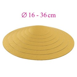 Thin gold cake board