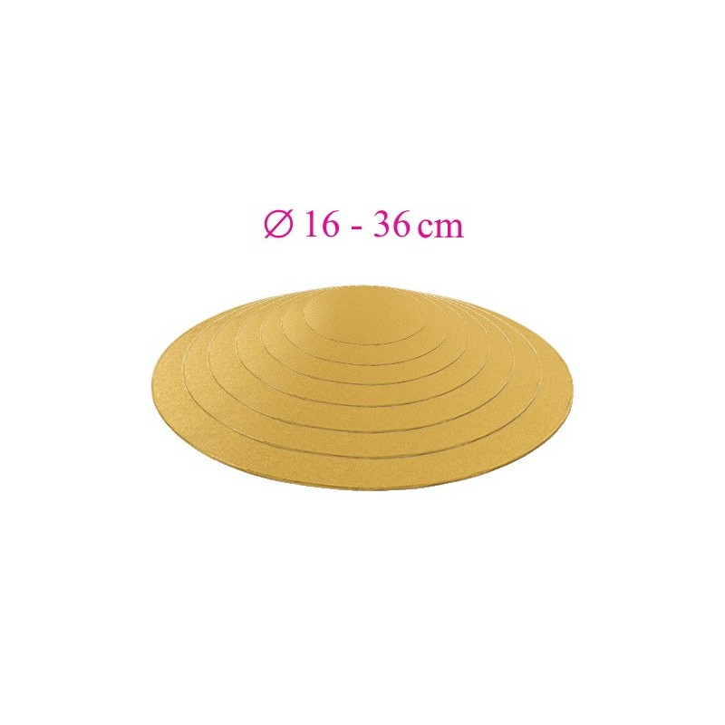 Thin gold cake board