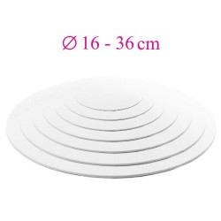 Thin white cake board