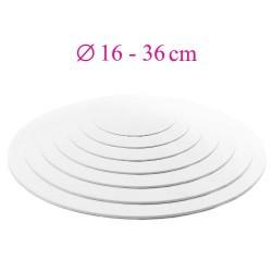 Thin white cake board