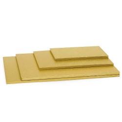 Plateaux rectangulaires à gâteau doré
