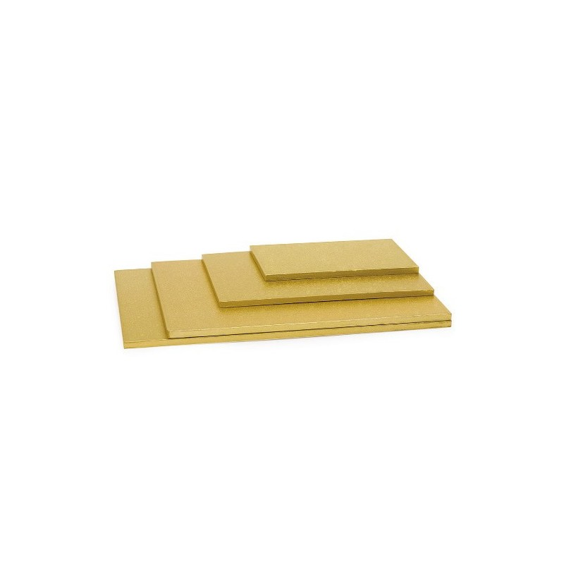 cake drums rectangles gold