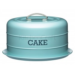Living Nostalgia - Boîte à gâteau à dôme bleu vintage
