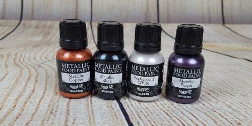 Metallische Lebensmittelfarbe