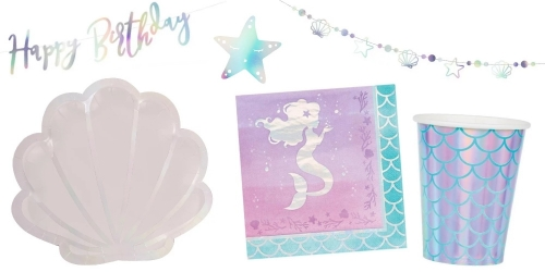Birthday Mermaids, decorations for table and cake, Pinata