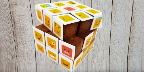 Cube, rubik's or minecraft cake
