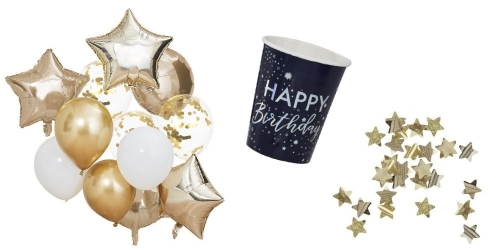 Decorations for a starry birthday